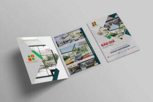 thiết kế hồ sơ năng lực công ty cửa nhựa Khang Nam Window